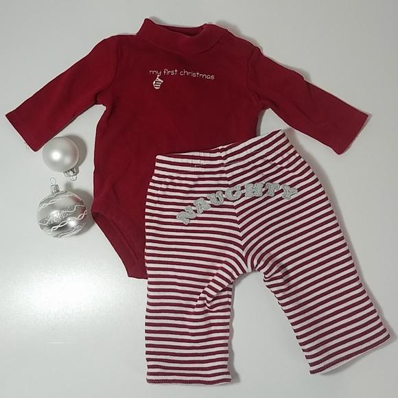 da3e244b8d30 Gymboree Matching Sets   Crazy 8 First Christmas Outfit   Poshmark
